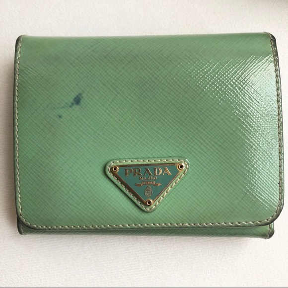a801b7c5d5e1f0 Prada Bags | Saffiano Leather Wallet In Shiny Aquamarine | Poshmark